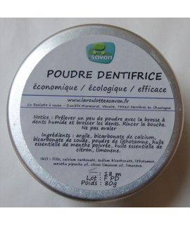 Dentifrice citron menthe