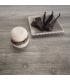 Macarons de Bain Chocolat Vanille